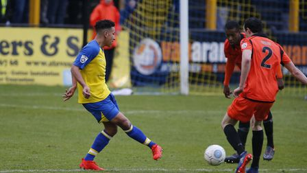 Zane Banton in action against Dartford. Picture: LEIGH PAGE