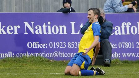 Sam Merson celebrated signing a new contract with two goals. Picture: LEIGH PAGE