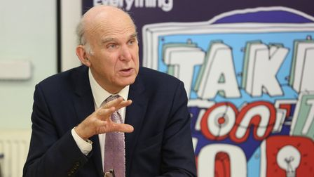 Leader of the Liberal Democrats Sir Vince Cable speaks to the Herts Advertiser's Fraser Whieldon at