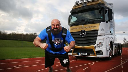 Current UK's strongest man and ultimate strongman world champion Laurence Shahlaei will be looking t