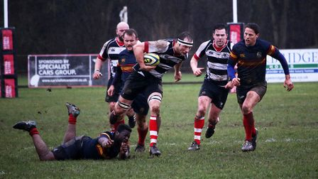 Harpenden on the attack. Picture: Kevin Lines