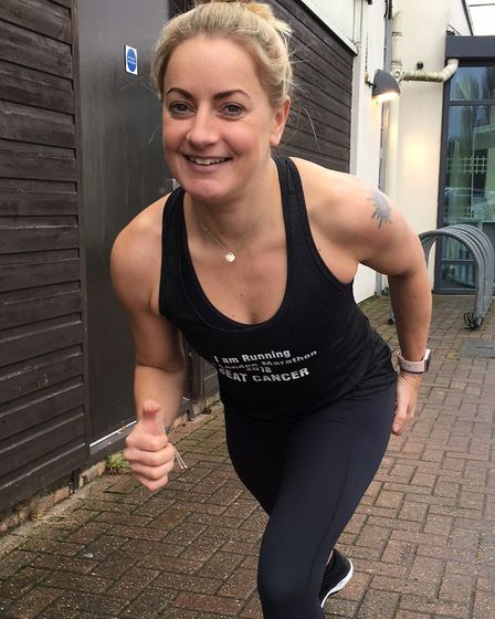 Fitness instructor Vicki Senanayake is taking part in the London Marathon for Cancer Research.