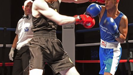 Jake Brading faced off against Bhuntonu Bragg. Picture: ARCHANT