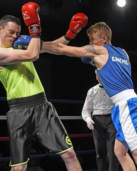 Joshiah Moran and Lewis Byant were in action on the night. Picture: ARCHANT