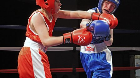 Action from the bout between Charlie Potts and Tyler Roberts. Picture: ARCHANT