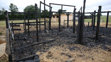 The burnt down outside classroom at St Luke's Special School. Picture: Danny Loo