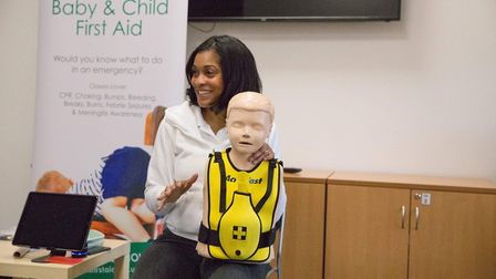Shavalyea Gilbert leading one of her Mini First Aid classes. Picture: Jamie Edwards.