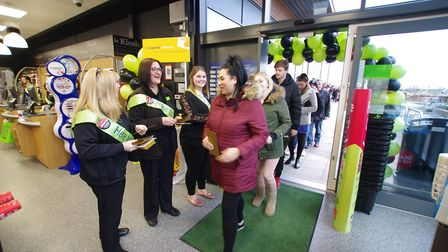 Doors open at the new Central England Co-operative store in Godmanchester