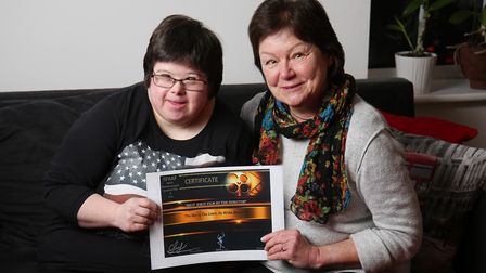 Emma with mum Mirka Anderson who made a film about Emma which has been getting international attenti