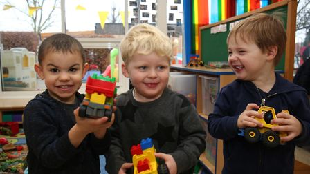 Children play at Wheathampstead play group as they are celebrating an outstanding ofsted report and