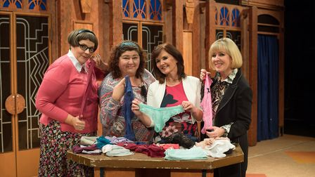 Rebecca Wheatley, Cheryl Fergison, Maureen Nolan and Hilary O'Neil star in Menopause The Musical, wh