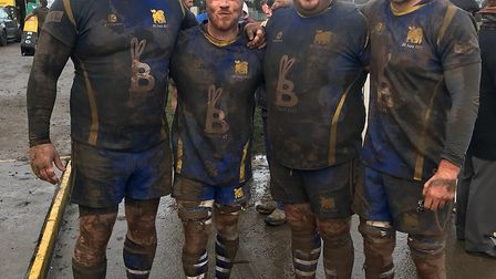 Four players who helped St Ives into the Midlands Senior Vase final are, from the left, Duncan Willi