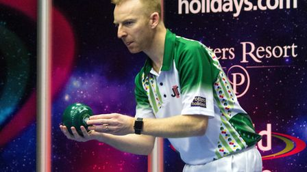Nicky Brett was beaten in the World Indoor Pairs final with partner Greg Harlow. Picture: TONY RUSHM