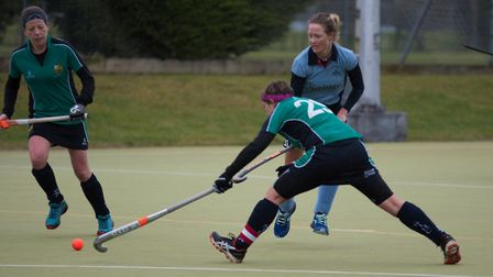 Action from St Neots Ladies 1sts victory at St Ives Ladies 1sts. Picture: J BIGGS PHOTOGRAPHY