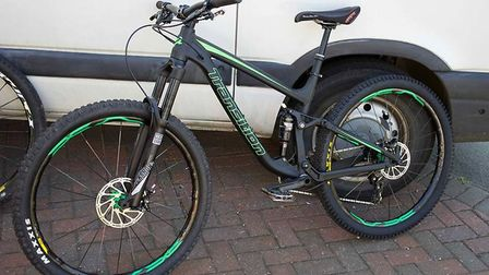 One of the mountain bikes that were stolen during a burglary in Royston. Picture: Herts police