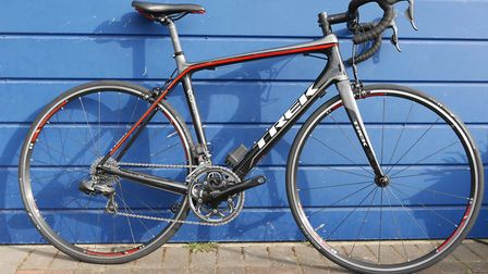 One of the road bikes that were stolen during a burglary in Royston. Picture: Herts police