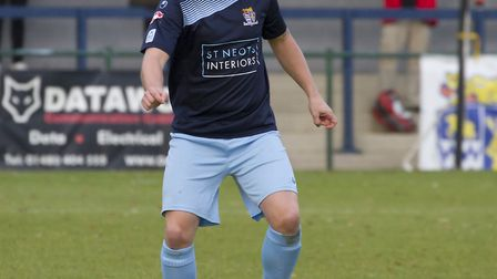 Jack Bradshaw scored for St Neots Town at Weymouth. Picture: CLAIRE HOWES
