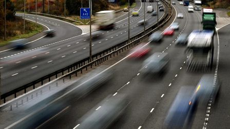 Traffic on the M1 motorway. Picture: Rui Vieira/PA.