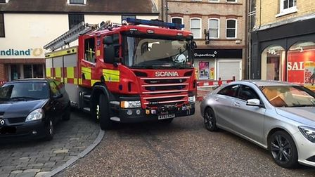 Cambridgeshire Fire and Rescue Service has also raised issues with problem parking in the centre of