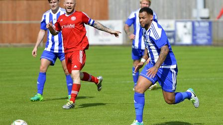 Top scorer Dom Lawless helped Eynesbury Rovers reach the semi-finals of the Hinchingbrooke Cup. Pict