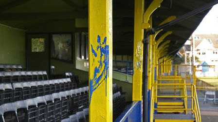 Paint was thrown around and fixtures broken at St Albans City FC after vandals broke in over the wee