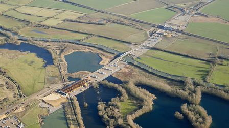 The A14's River Great Ouse viaduct will require temporary river closures while steelwork is put in p