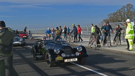 The opening of the new bridge at the A1/A14 near Brampton. Picture: ARCHANT