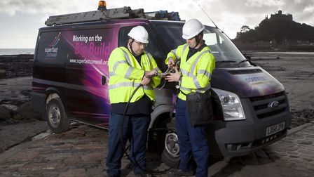 Engineers installing superfast broadband in Cornwall, funded in part by ESIF cash. Post-Brexit, ESIF
