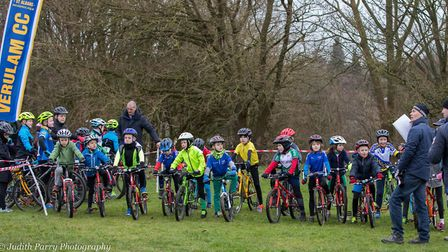 Ready to go at the Verulam Cycling Club-hosted Muddy Monsters event in St Albans. Picture: JUDITH PA