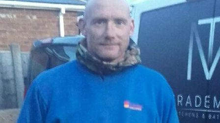 Matt McQueen had his Ford Transit van stolen while he was working on a driveway in Royston. Picture: