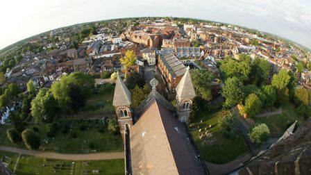 View over St Albans from the north transept. Picture: Spike Brown of Blue Feather Photography