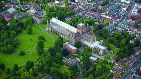 View over St Albans Cathedral. Picture: Jason Hawkes.