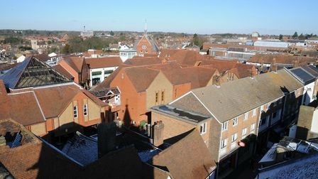 View of St Albans from the Clock Tower. Picture: Krishan Bhungar.