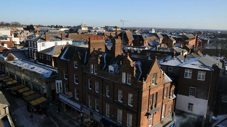 View over St Albans from the top of the Clock Tower. Picture: Krishan Bhungar.