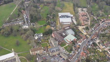 Aerial view of St Albans School. Picture: Commission Air Ltd.