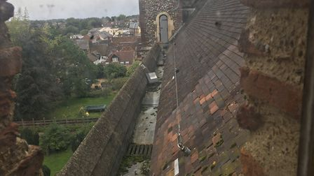 A view from St Albans Cathedral.