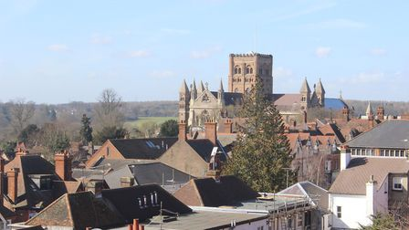 View from the Maltings car park. Picture: Rupert Evershed.