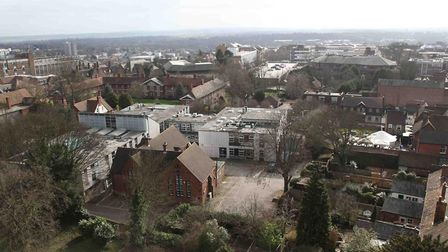 View from St Peter's Church tower.