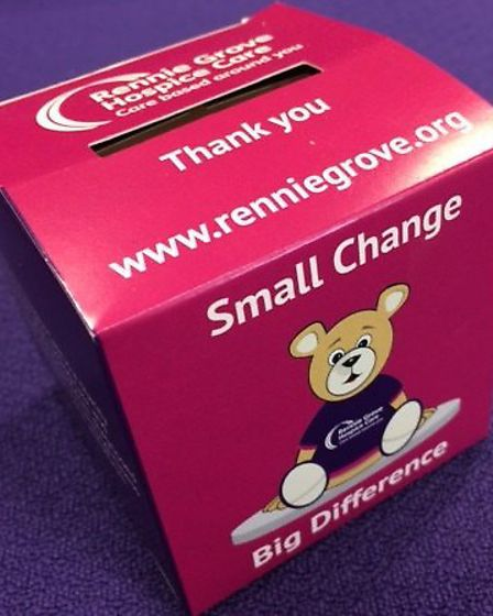 Collecting small change for Rennie Grove.