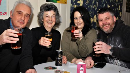 Save the Cabinet's Pop-up pub night at Reed Village Hall. Picture: Clive Porter