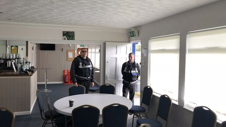 The bailiffs sent by St Albans council at St Albans City Football Club's ground.