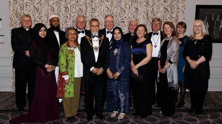 At the annual Civic Ball: The Mayor of St Albans Mohammad Iqbal Zia (front row; third from the left)