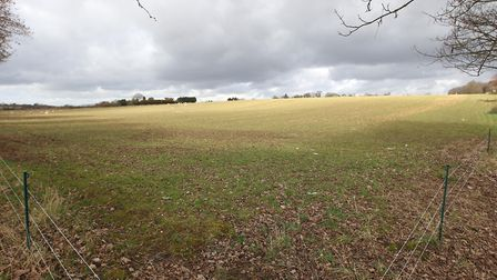 Green Belt land in Harpenden along Luton Road, earmarked for possible urban expansion in St Alban di