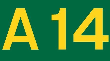 There has been an accident on the A14.