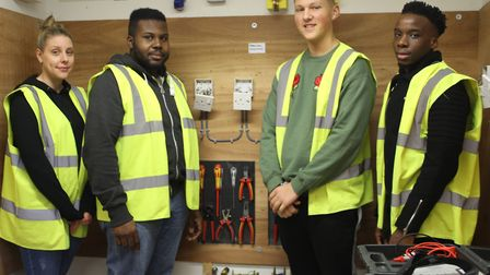 DIY SOS star Billy Byrne visited Oaklands College to talk to apprentices there.