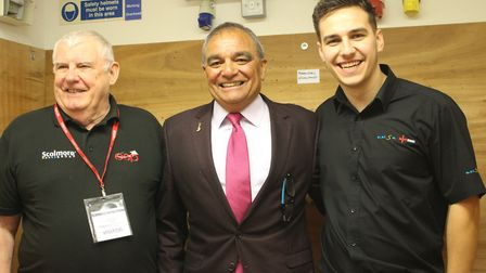 DIY SOS star Billy Byrne with Tony Cable, a freelance consultant at electrical distributor and manuf