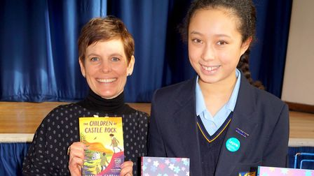 Natasha Farrant with Year 7 pupil Lois Holness. Picture: STAGS