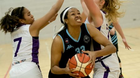 Rachel Morris top-scored for Oaklands Wolves at Westfield Health Sheffield Hatters. Picture: LELLO A