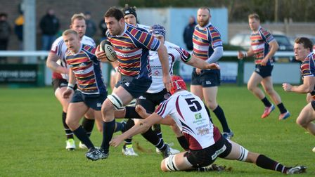Old Albanian skipper Ross Hamilton got one of the tries against Fylde. Picture: KEVIN LINES
