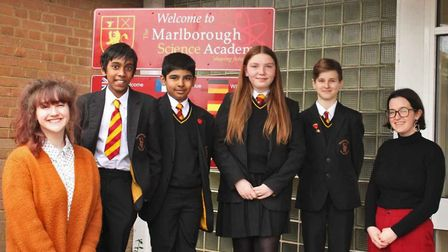 Staff and pupils at Marlborough Science Academy celebrate a 'good' Ofsted report.